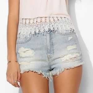 Urban Outfitters BDG Dree Cheeky High Rise Shorts